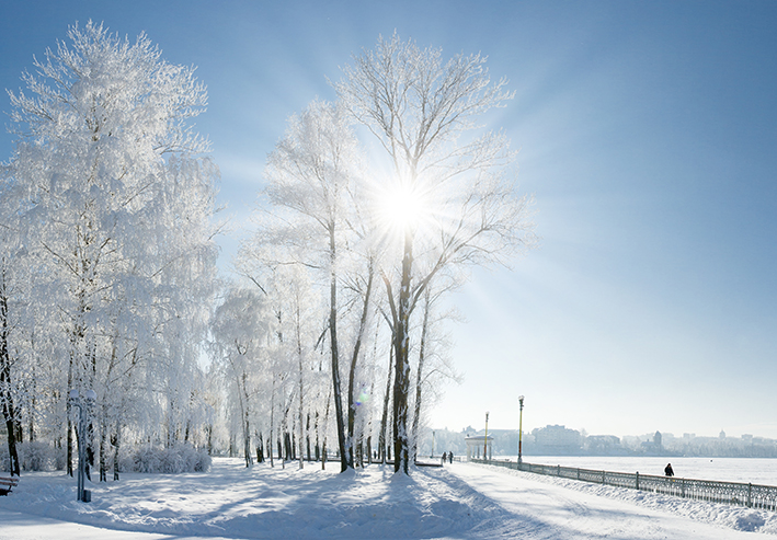 Schnee in Vockerode dank neuem Gasnetz