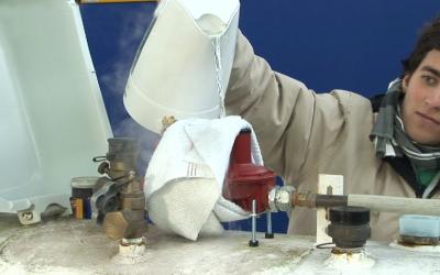 Schnelle Hilfe bei Gasregler Vereisung
