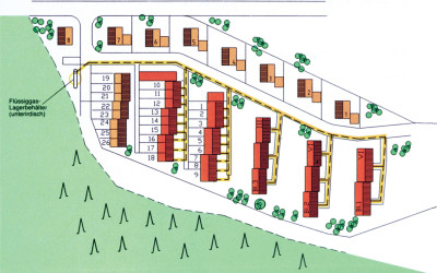 Kommunales Gasnetz: modernes Flüssiggas-Energiekonzept