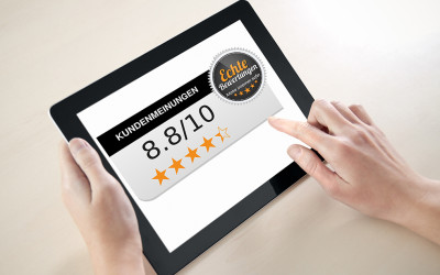 Offenes Kundenfeedback durch Online-Bewertung