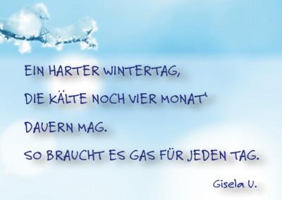 Gasverbrauch im Winter