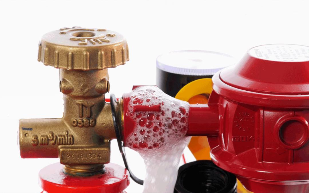 Lecksuchspray schützt vor Gasunfällen