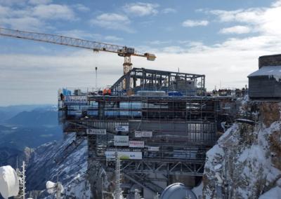 Zugspitze Baustelle Seilbahn