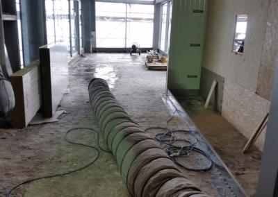 Warmluftheizung Zugspitze Baustelle Bauheizung