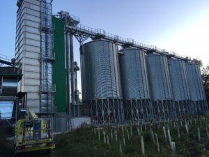 Löffelmühle, Getreidesilo, Getreidetrocknung, Flüssiggas
